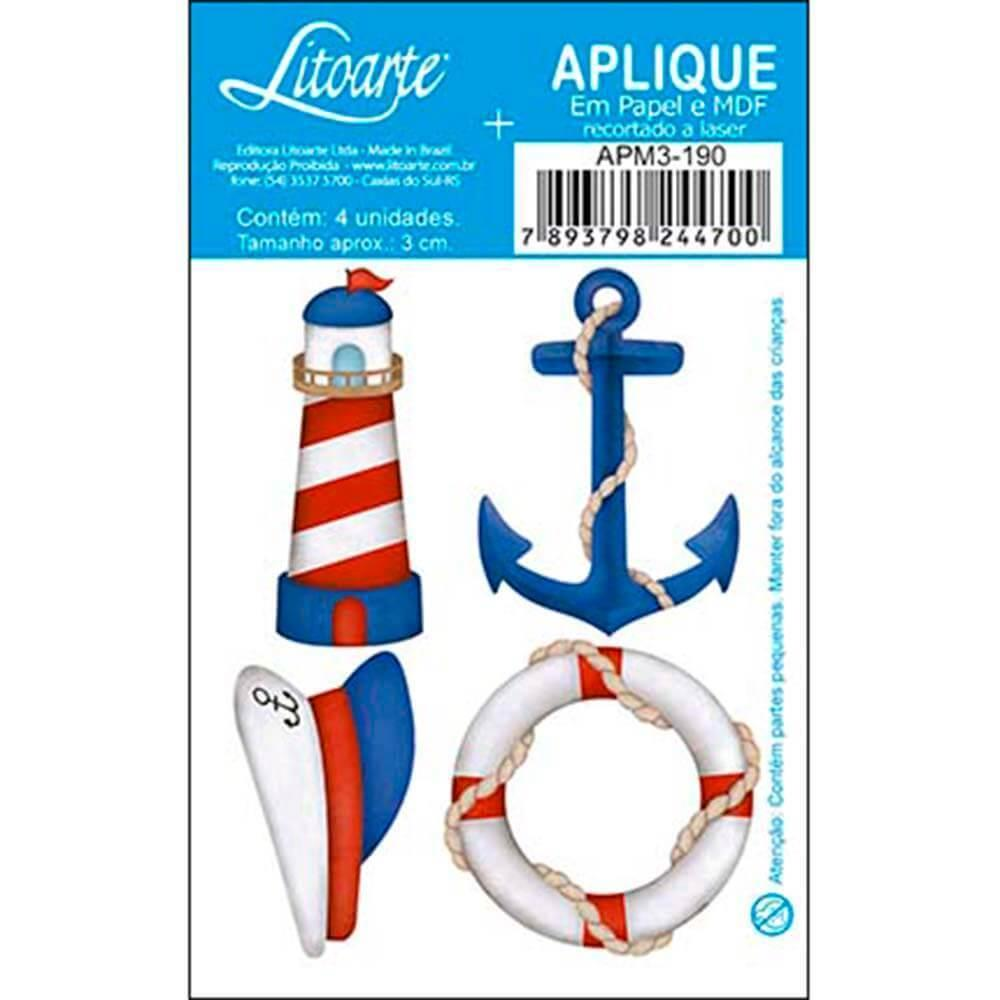 Lighthouse Anchor Float : Wood Embellishment Crafts Scrap Shape Laser Maritime