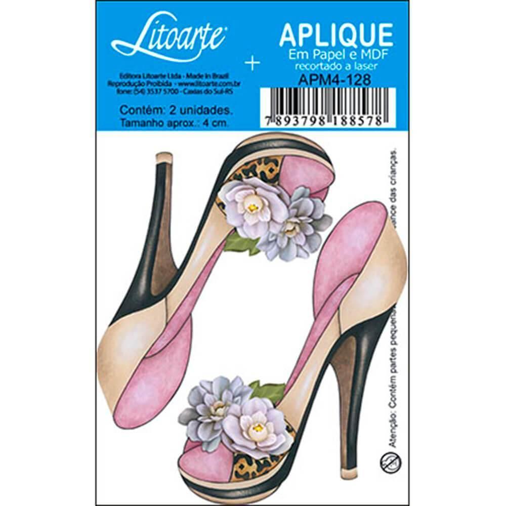 High Heels Shoes Flowers : Wood Ornament Decor Crafts Hobby Diy Shape Laser