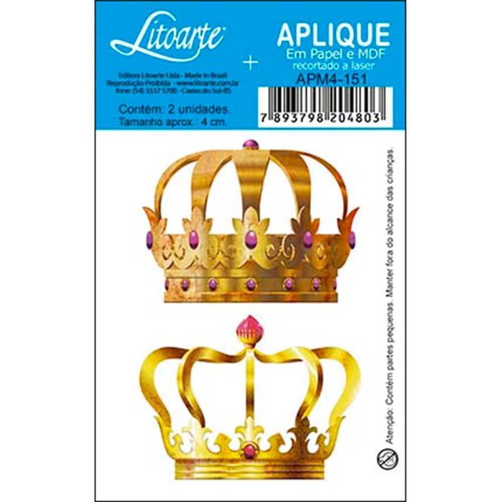 Golden Crown King Queen : Wood Ornament Embellishment Crafts Diy Shape Laser