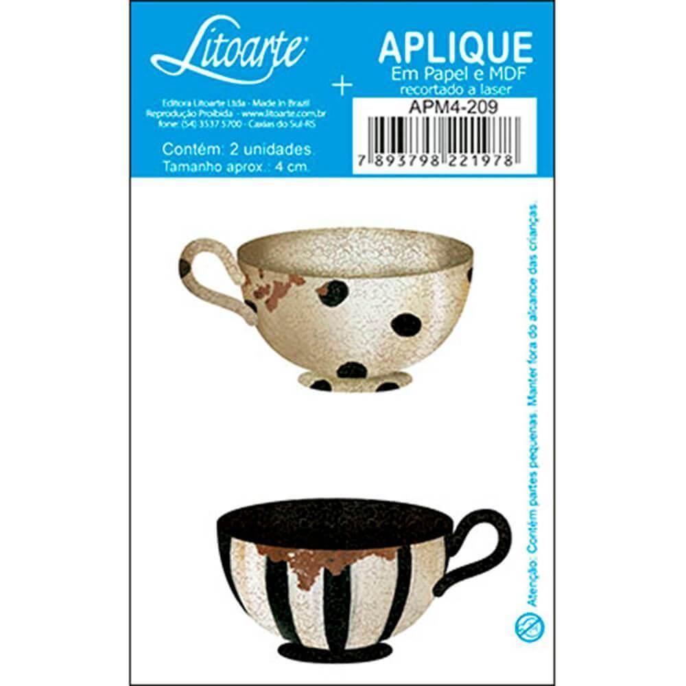Tea Cup Mug Polka Stripe Kitchen : Wood Embellishment Crafts Scrap Shape Laser