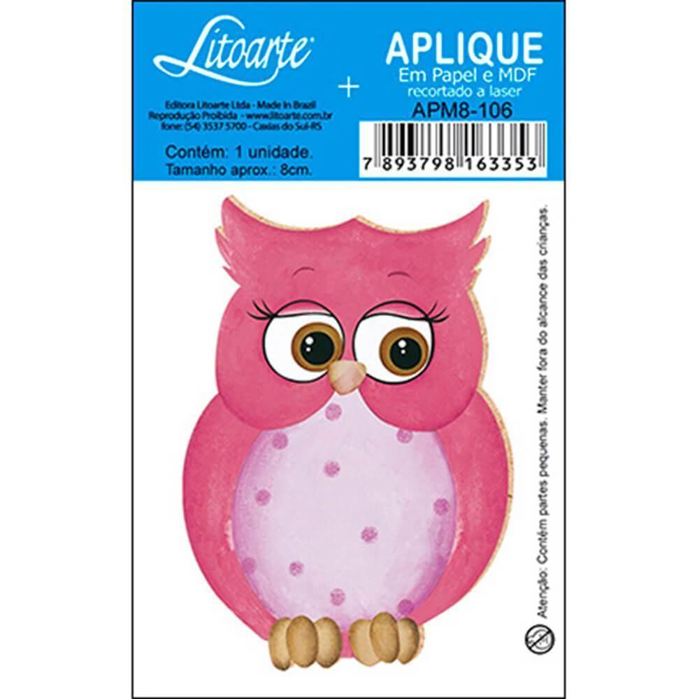 Pink Owl : Wood Ornament Embellishment Decor Crafts Hobby Scrap Diy Shape Laser
