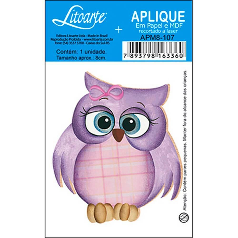 Purple Owl : Wood Ornament Embellishment Decor Crafts Hobby Diy Shape Laser