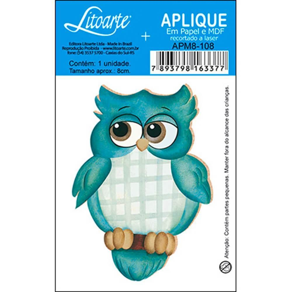 Blue Owl : Wood Ornament Embellishment Decor Crafts Hobby Scrap Diy Shape Laser