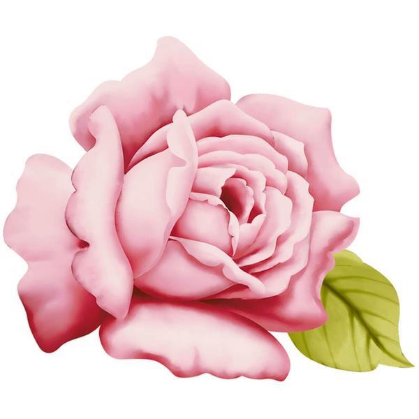 Pink Rose : Wood Ornament Embellishment Decor Craft Hobby Scrap Diy Shape Laser