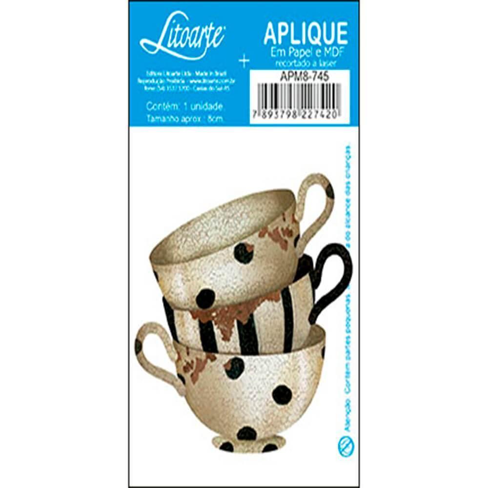Tea Cups Mugs Kitchen : Wood Ornament Embellishment Craft Scrap Diy Shape Laser