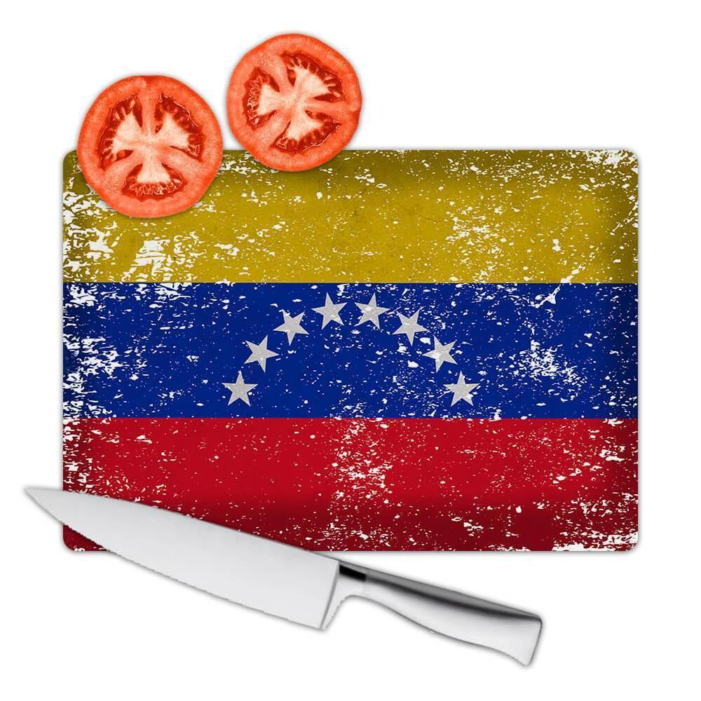 Venezuela : Gift Cutting Board Flag Retro Artistic Venezuelan Expat Country