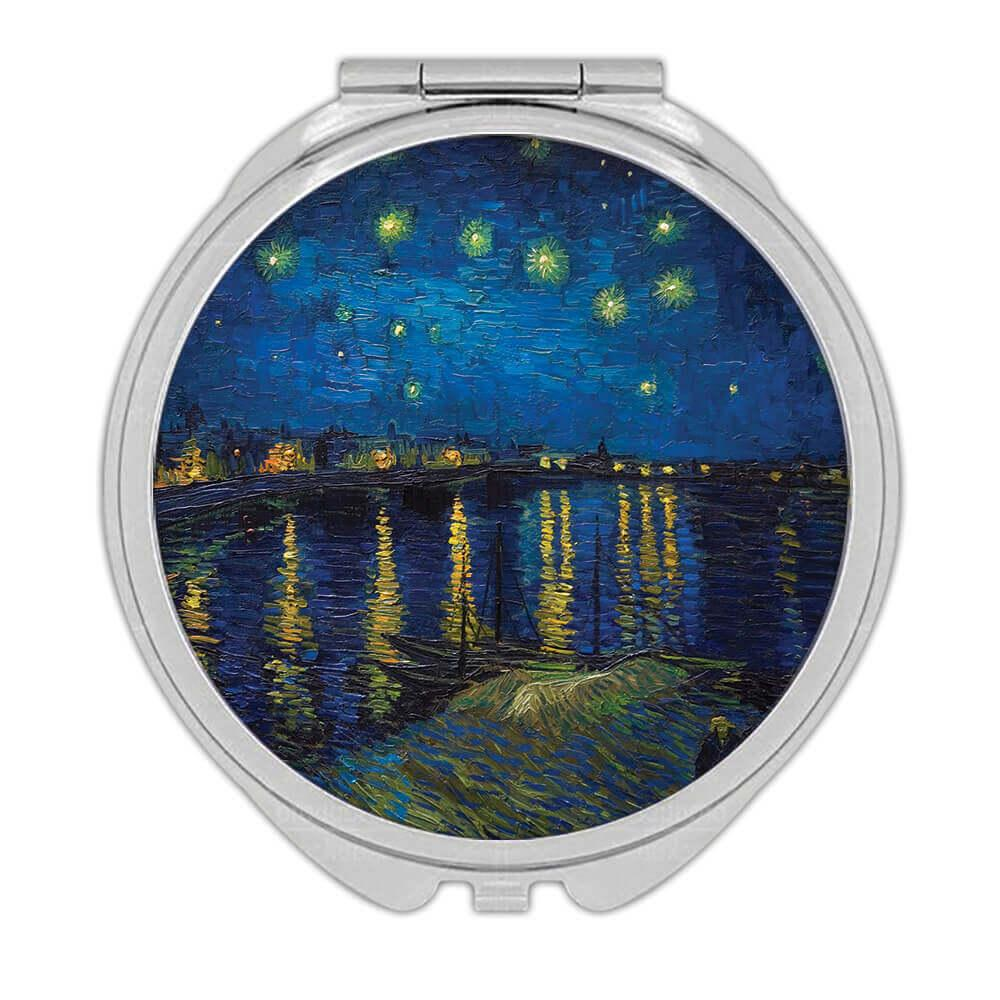 Starry Night Vincent Van Gogh : Gift Compact Mirror Famous Oil Painting Art Artist Painter