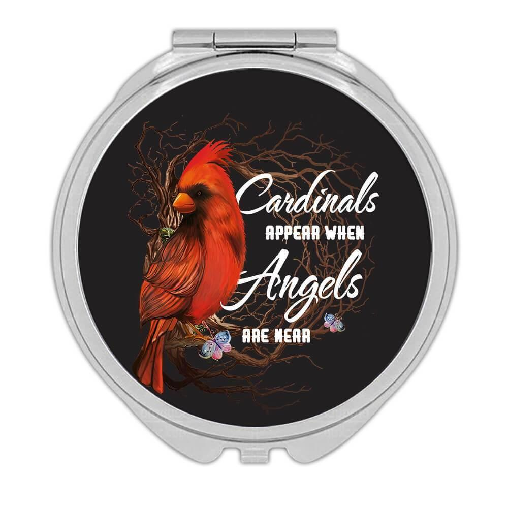 Cardinals Appear : Gift Compact Mirror Angels Are Near Bird Ecology Nature Aviary