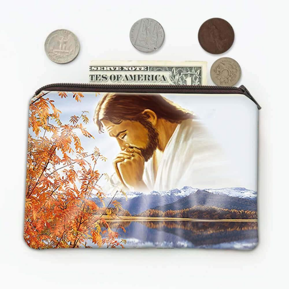 Jesus Praying : Gift Coin Purse Catholic Religious Our Father Christmas