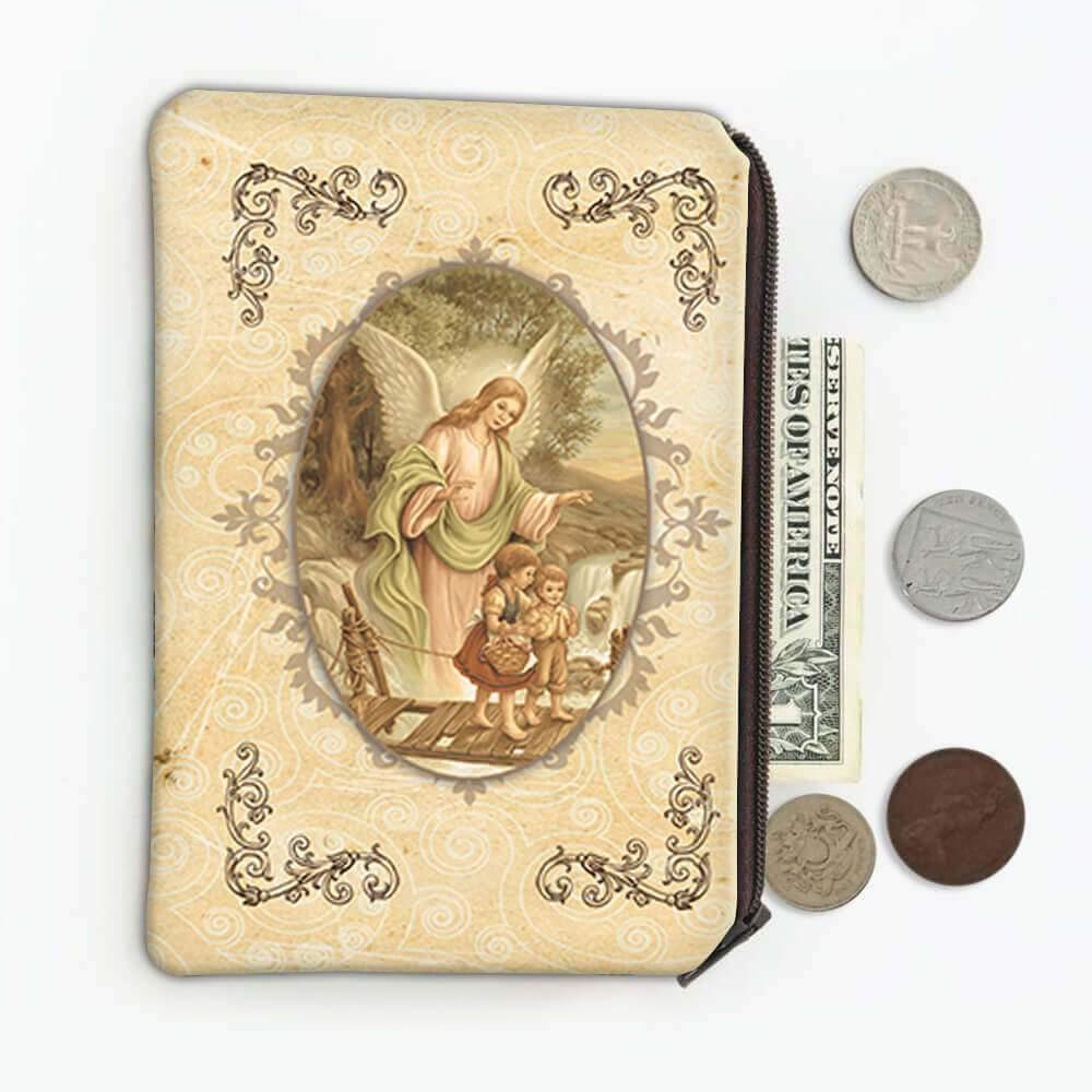 Guardian Angel : Gift Coin Purse Catholic Religious Saint Vintage
