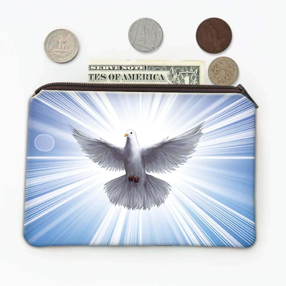Dove Holy Spirit : Gift Coin Purse Catholic Religious Religion Classic Faith