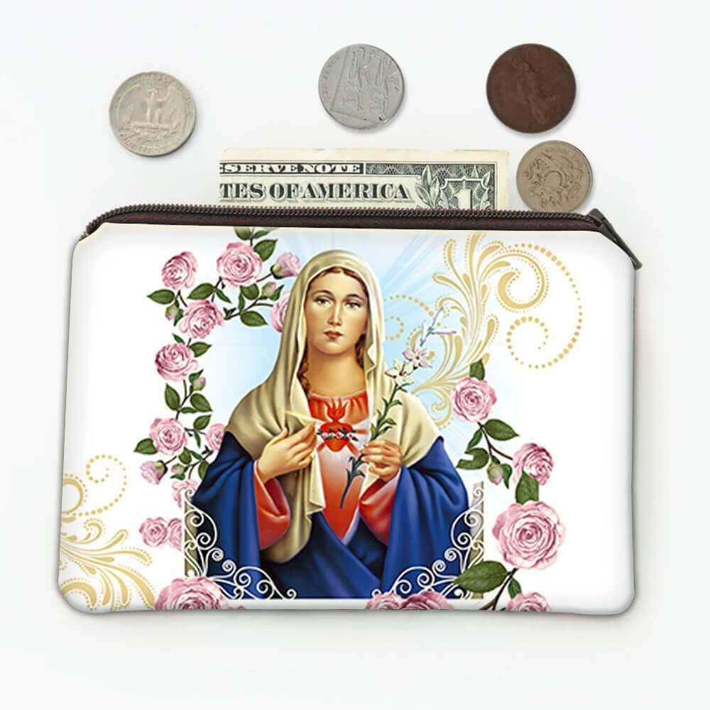 Immaculate Heart of Mary : Gift Coin Purse Catholic Religious Virgin Saint Sacred Mother of God