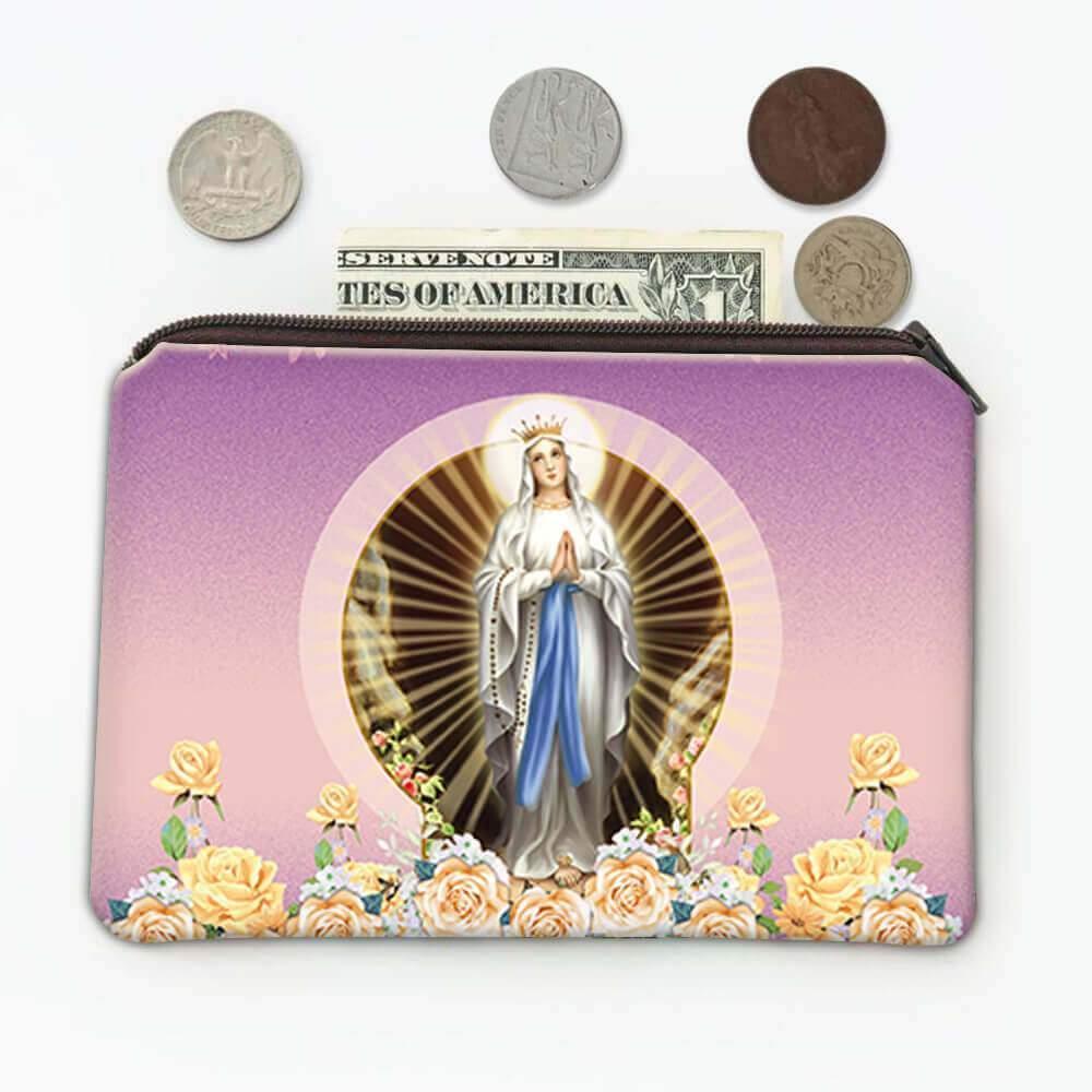 Our Lady Lourdes : Gift Coin Purse Catholic Religious Virgin Saint Mary