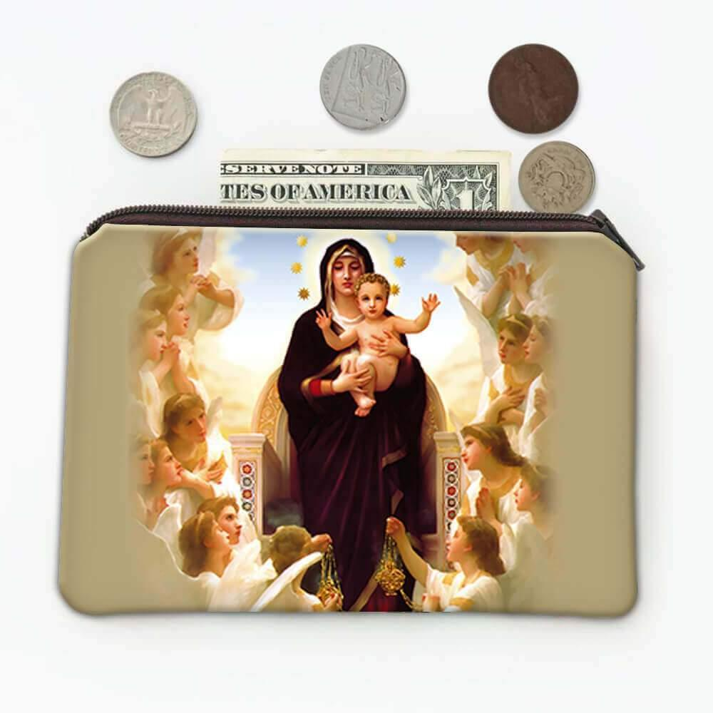 Our Lady of the Angels : Gift Coin Purse Catholic Religious Virgin Mary