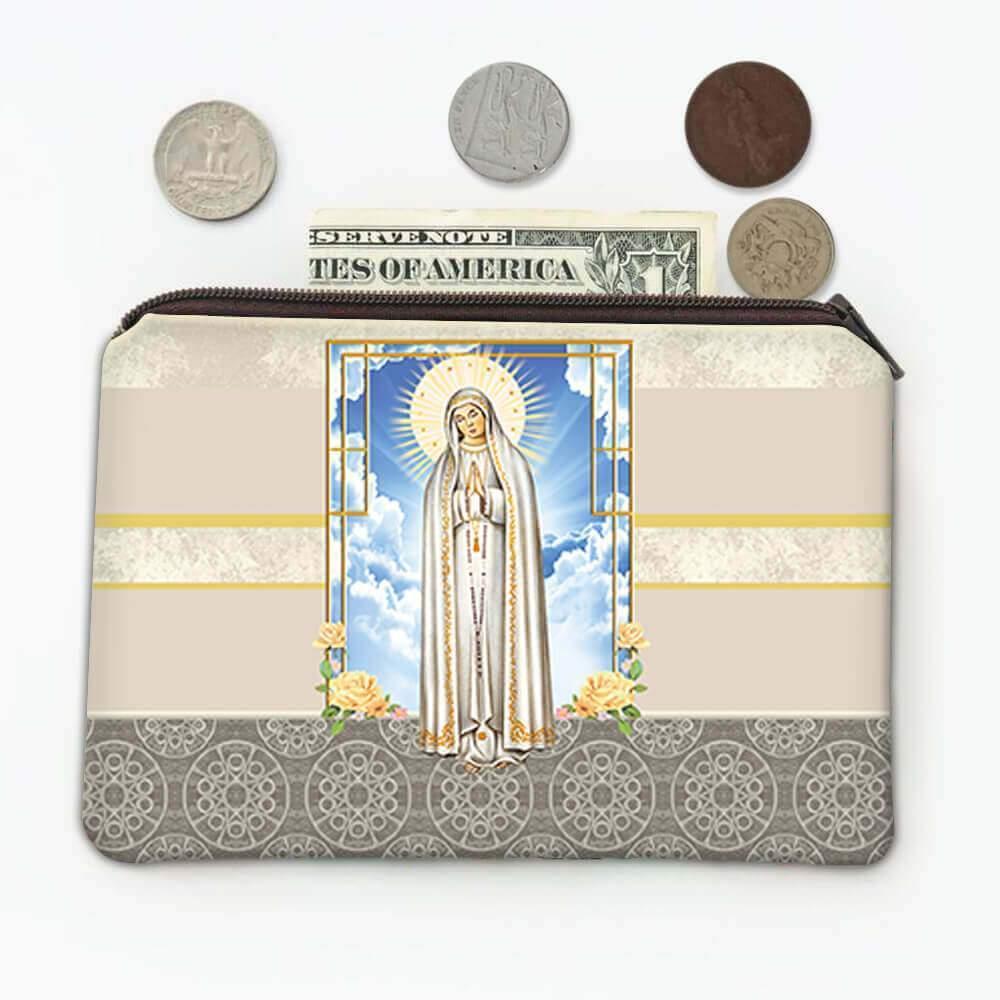 Our Lady of Fatima : Gift Coin Purse Catholic Religious Virgin Saint