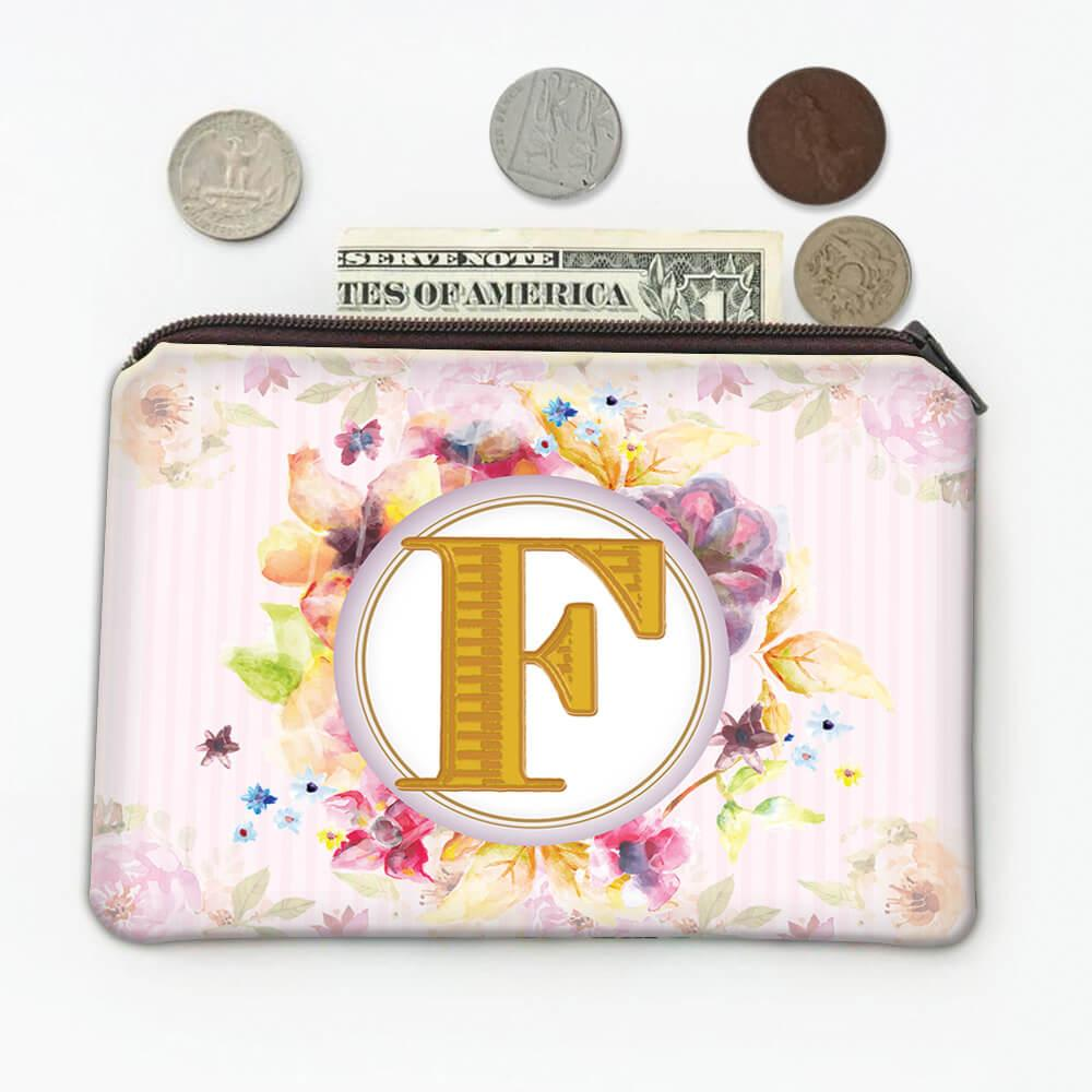 Monogram Letter F : Gift Coin Purse Name Initial Alphabet ABC