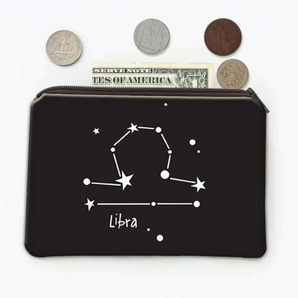 Libra : Gift Coin Purse Zodiac Sign Esoteric Horoscope Astrology