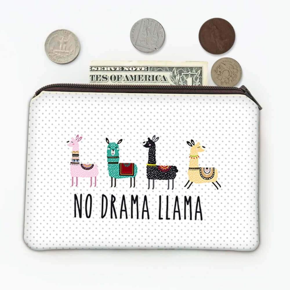 No Drama Llama : Gift Coin Purse Cute Trend Trendy Cartoon Teen Kids