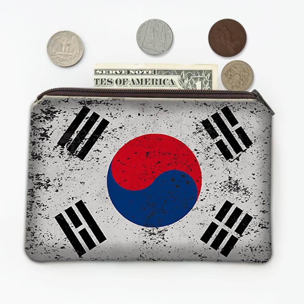 South Korea : Gift Coin Purse Flag Retro Artistic Korean Expat Country