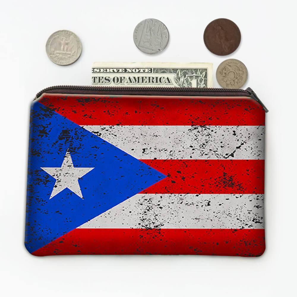 Puerto Rico : Gift Coin Purse Flag Retro Artistic Puerto Rican Expat Country