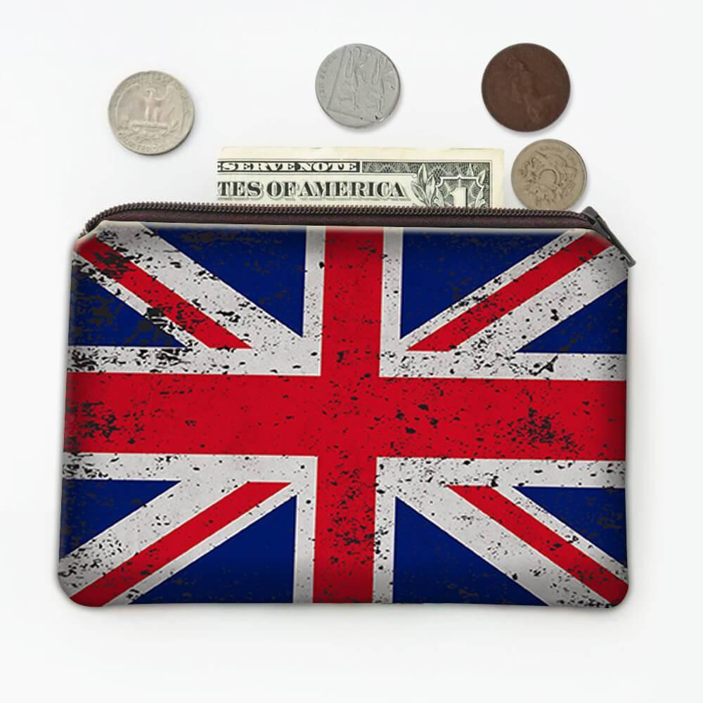 United Kingdom : Gift Coin Purse Flag Retro Artistic British Expat Country