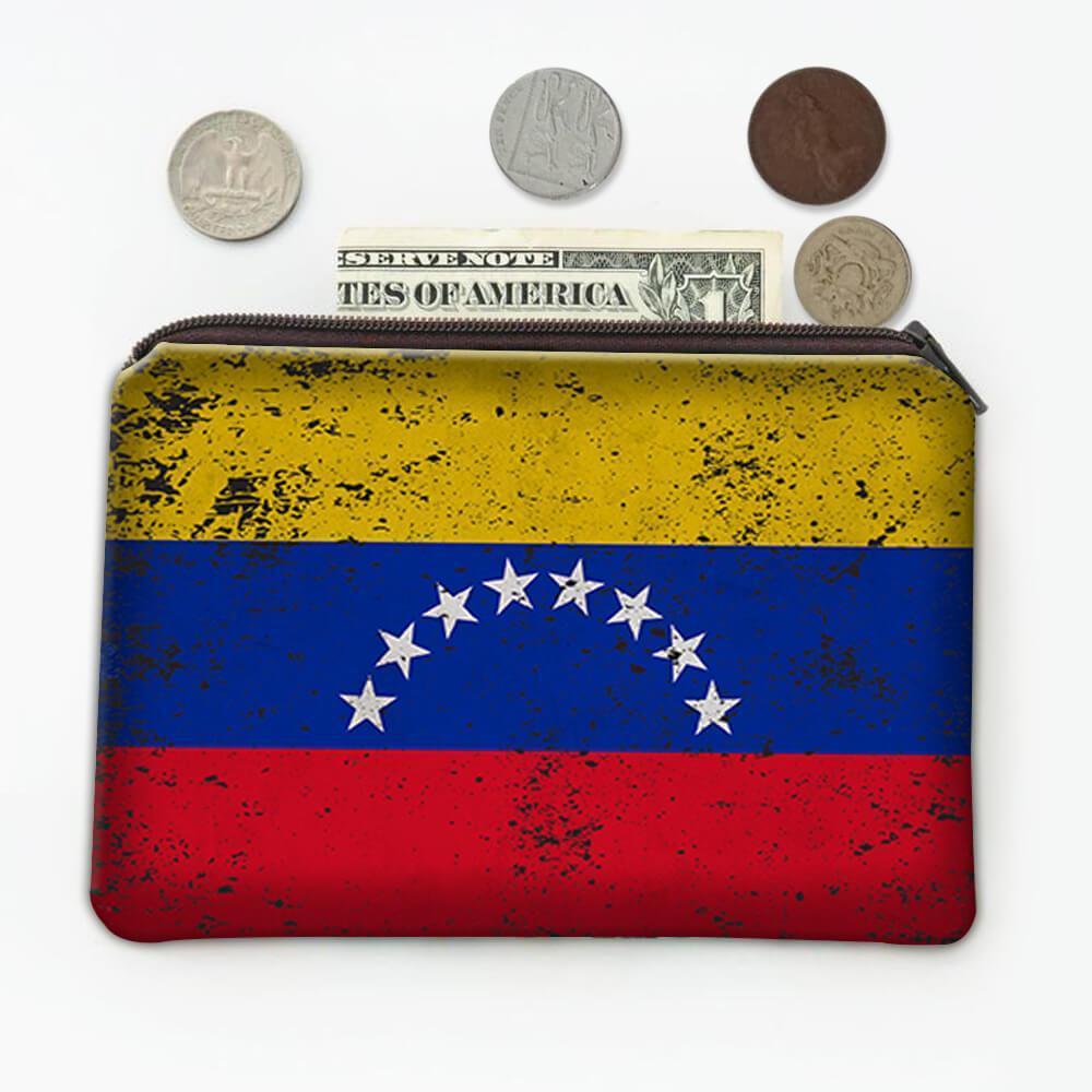 Venezuela : Gift Coin Purse Flag Retro Artistic Venezuelan Expat Country
