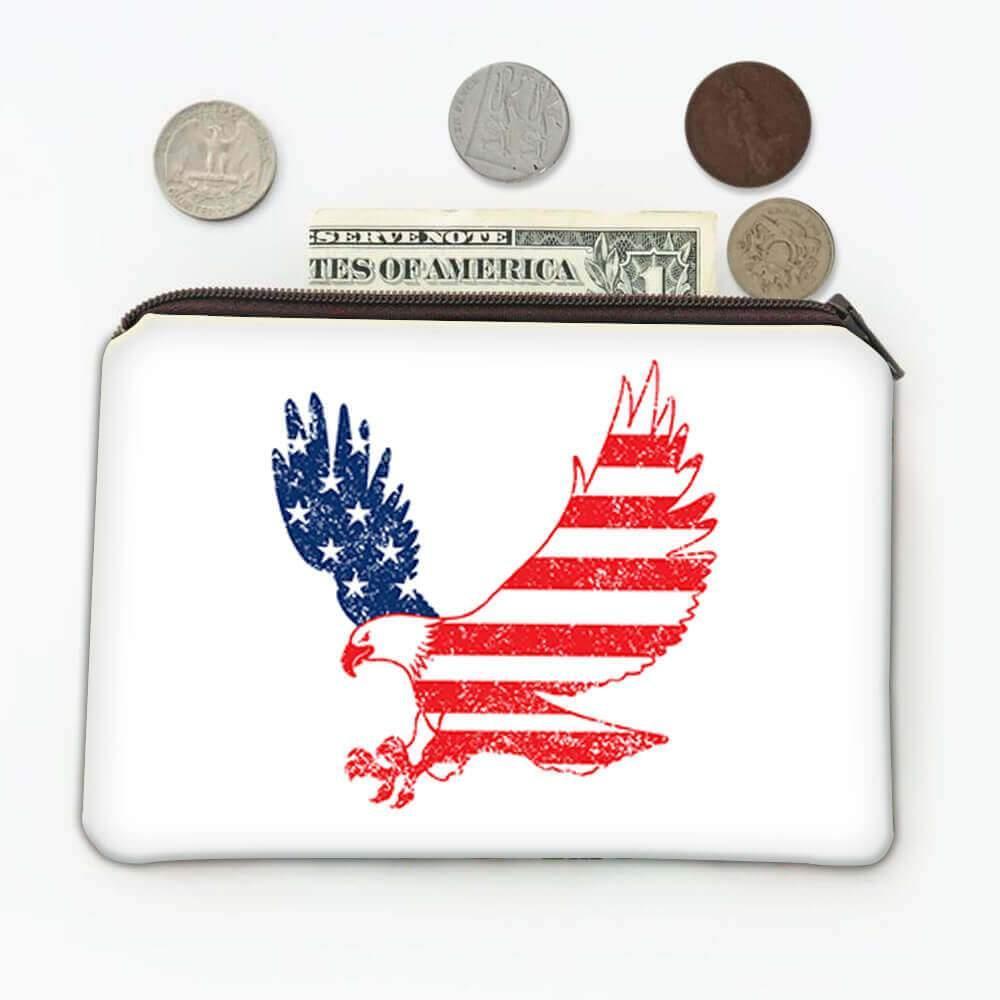 Eagle American : Gift Coin Purse Flag USA United States Patriotic Stars & Stripes