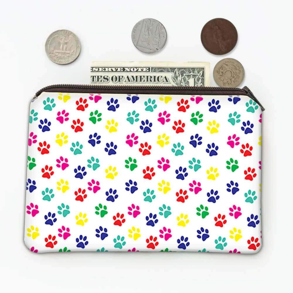 Dog : Gift Coin Purse Paws Colors Cute Animal Pet Canine Pets Dogs
