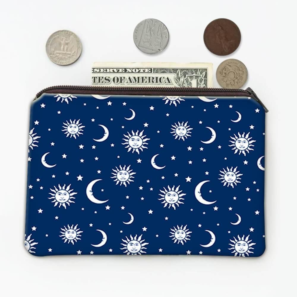 Sun Moon Star Prints : Gift Coin Purse Night Sky Pattern Faced Ceiling Decoration Kitchen Bathroom