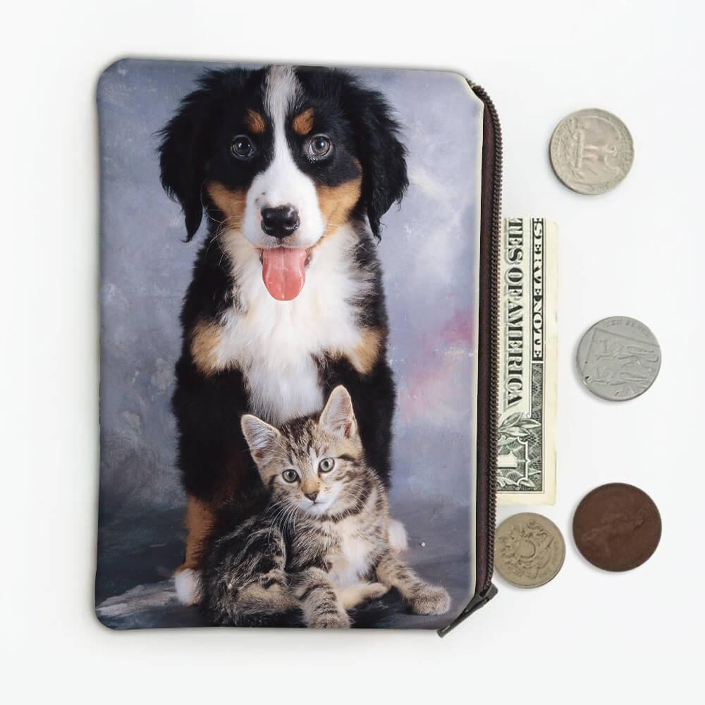 Bernese Cat : Gift Coin Purse Dog Pet Puppy Animal Friends Cute