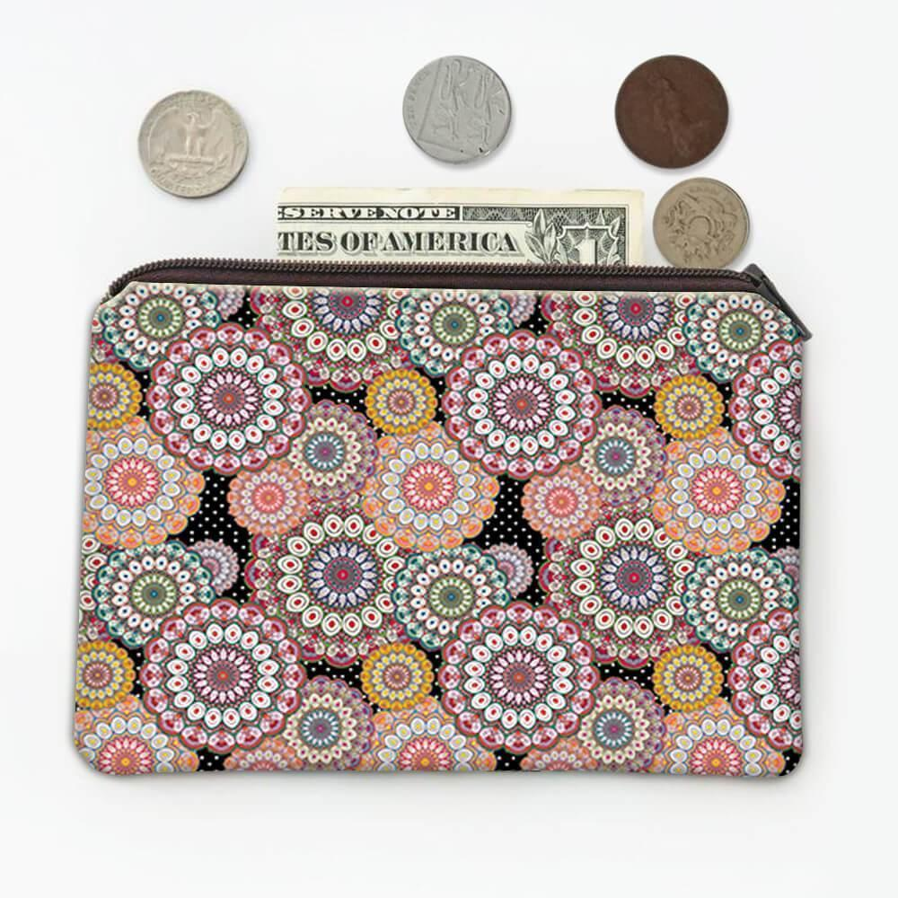 Decorated Mandalas : Gift Coin Purse Orient Style Ornament Flower Coloring Moroccan Decor Yoga