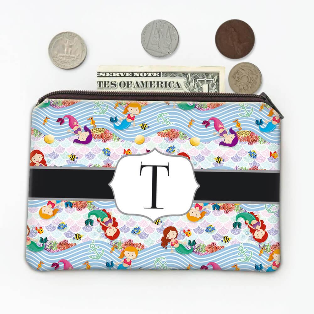 Cute Little Mermaid : Gift Coin Purse Ariel Underwater Life Scales Pattern Kids Fairy Tale Party Decor