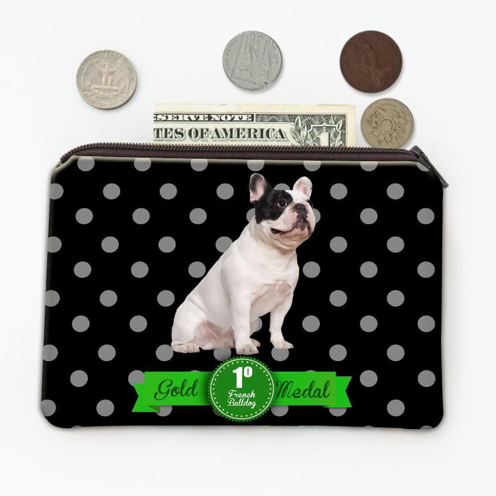 French Bulldog Polka Dots : Gift Coin Purse Pet Dog Puppy Animal Cute