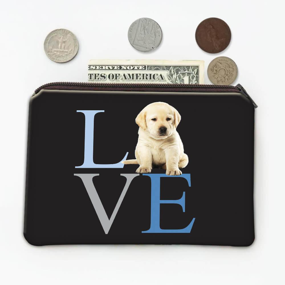 Love Labrador : Gift Coin Purse Cute Dog Pet Animal Canine Pets Dogs