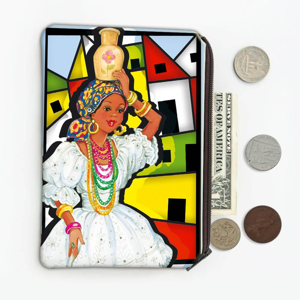 African Woman Baiana Colorful : Gift Coin Purse Brazil Brazilian Folk Culture Bahia Salvador