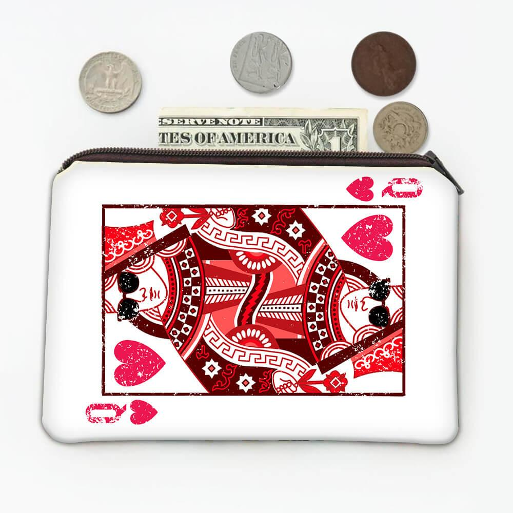 Queen of Hearts : Gift Coin Purse Valentines Day Love Swag Girlfriend Wife Playing Card