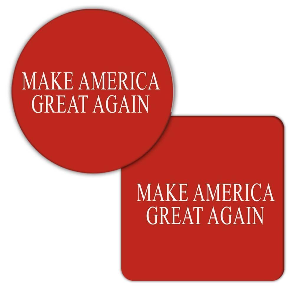 Make America Great Again : Gift Coaster Trump Politics USA