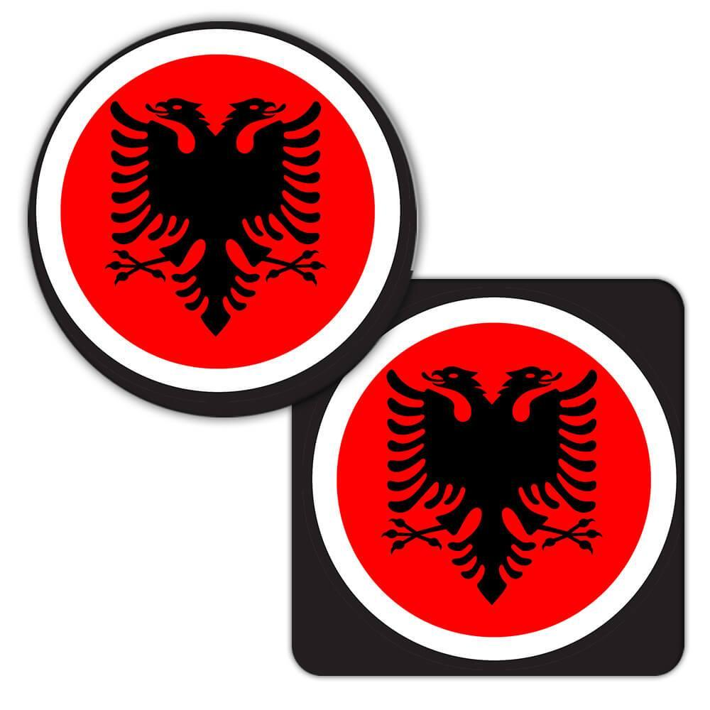 Albania : Gift Coaster Flag Never Underestimate The Power Albanian Expat Country