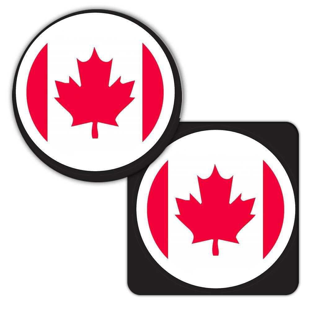 Canada : Gift Coaster Flag Never Underestimate The Power Canadian Expat Country