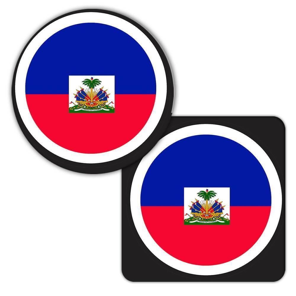 Haiti : Gift Coaster Flag Never Underestimate The Power Haitian Expat Country