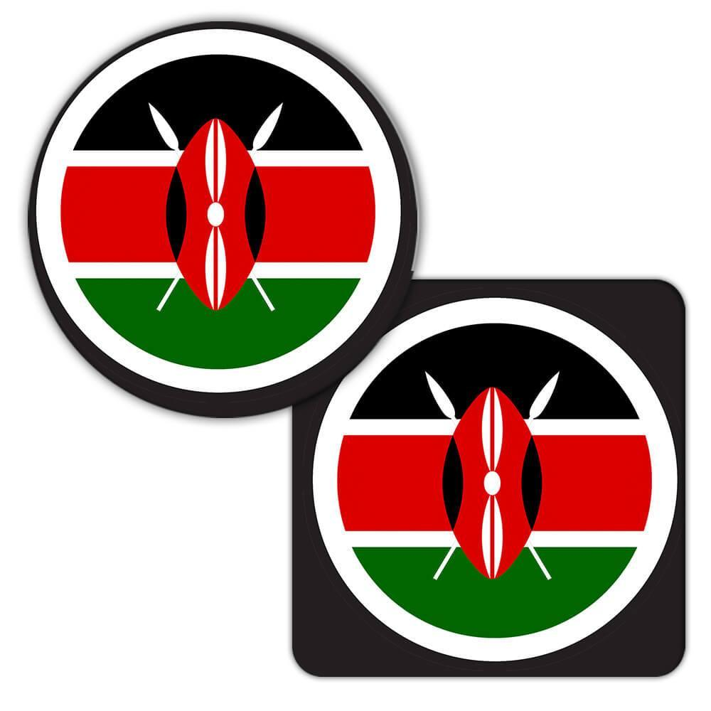 Kenya : Gift Coaster Flag Never Underestimate The Power Kenyan Expat Country