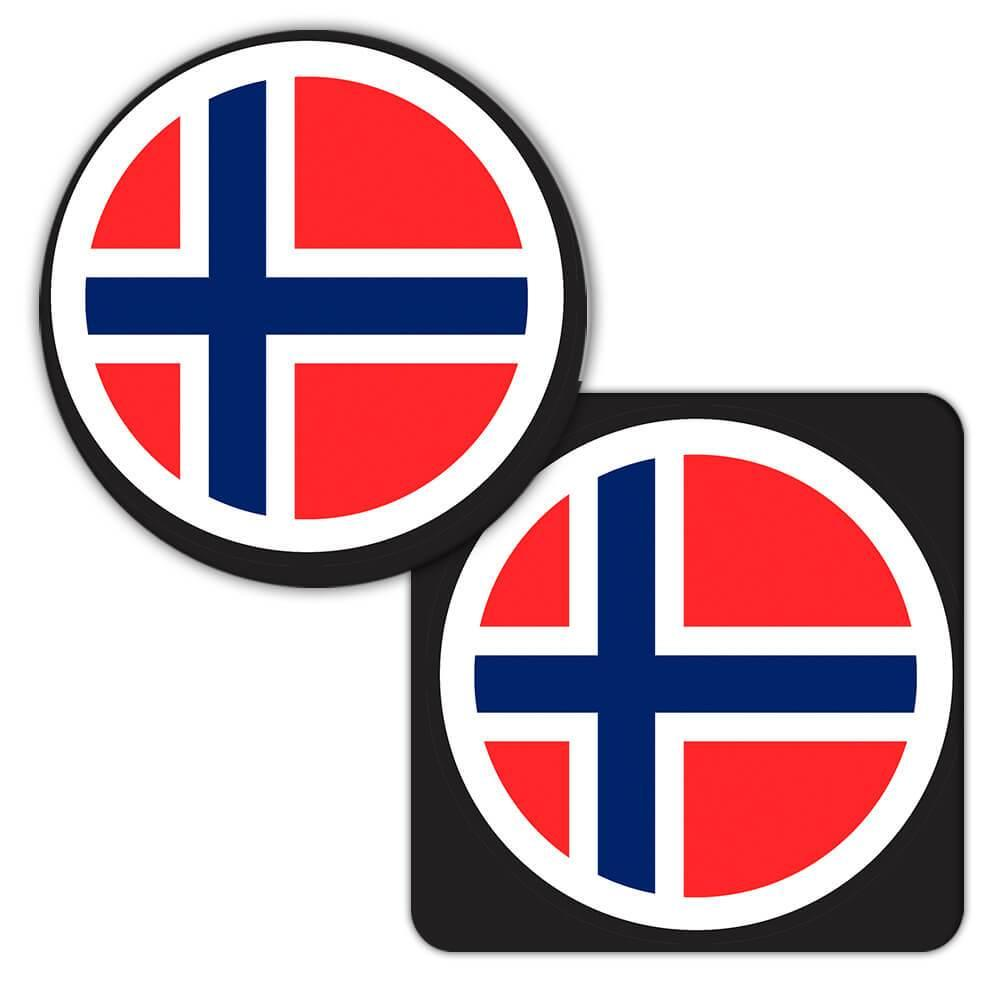 Norway : Gift Coaster Flag Never Underestimate The Power Norwegian Expat Country