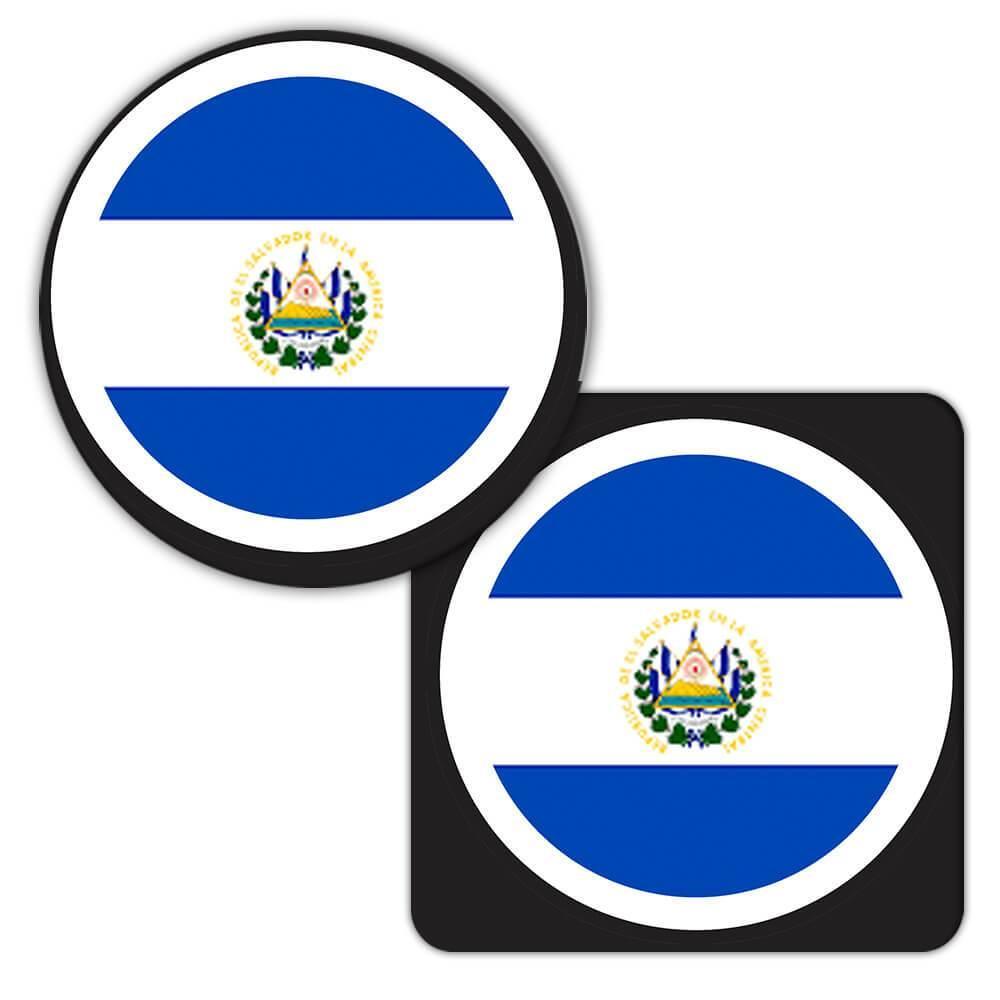 El Salvador : Gift Coaster Flag Never Underestimate Power Salvadorean Expat Country