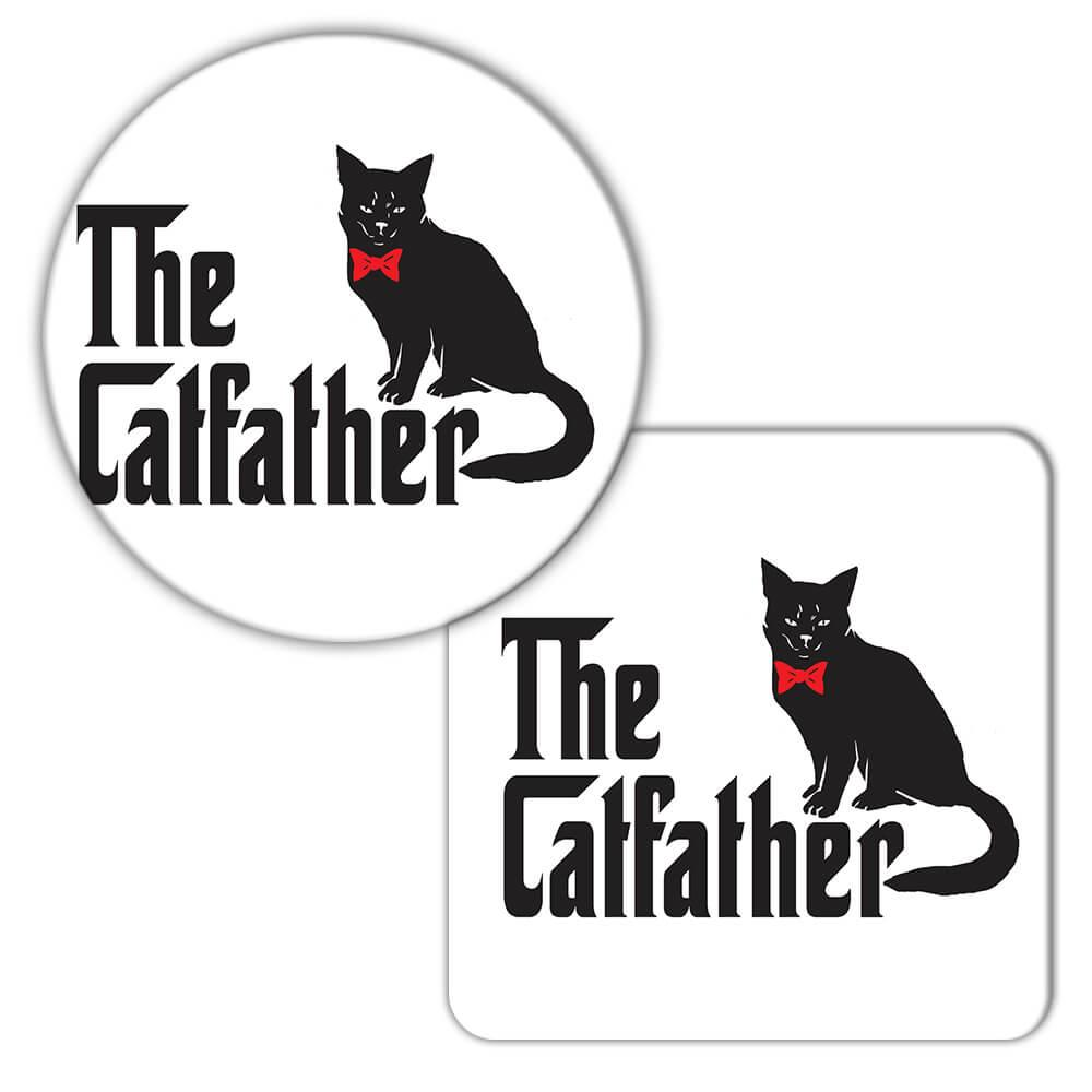 The CatFather : Gift Coaster Godfather Cat Dad Cat Father Father's Day Corleone