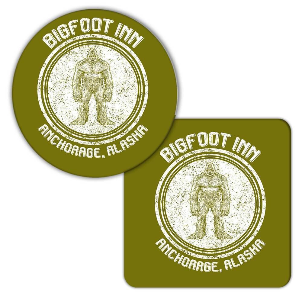 Bigfoot Inn : Gift Coaster Alaska Yeti Geek Anchorage Sci fi