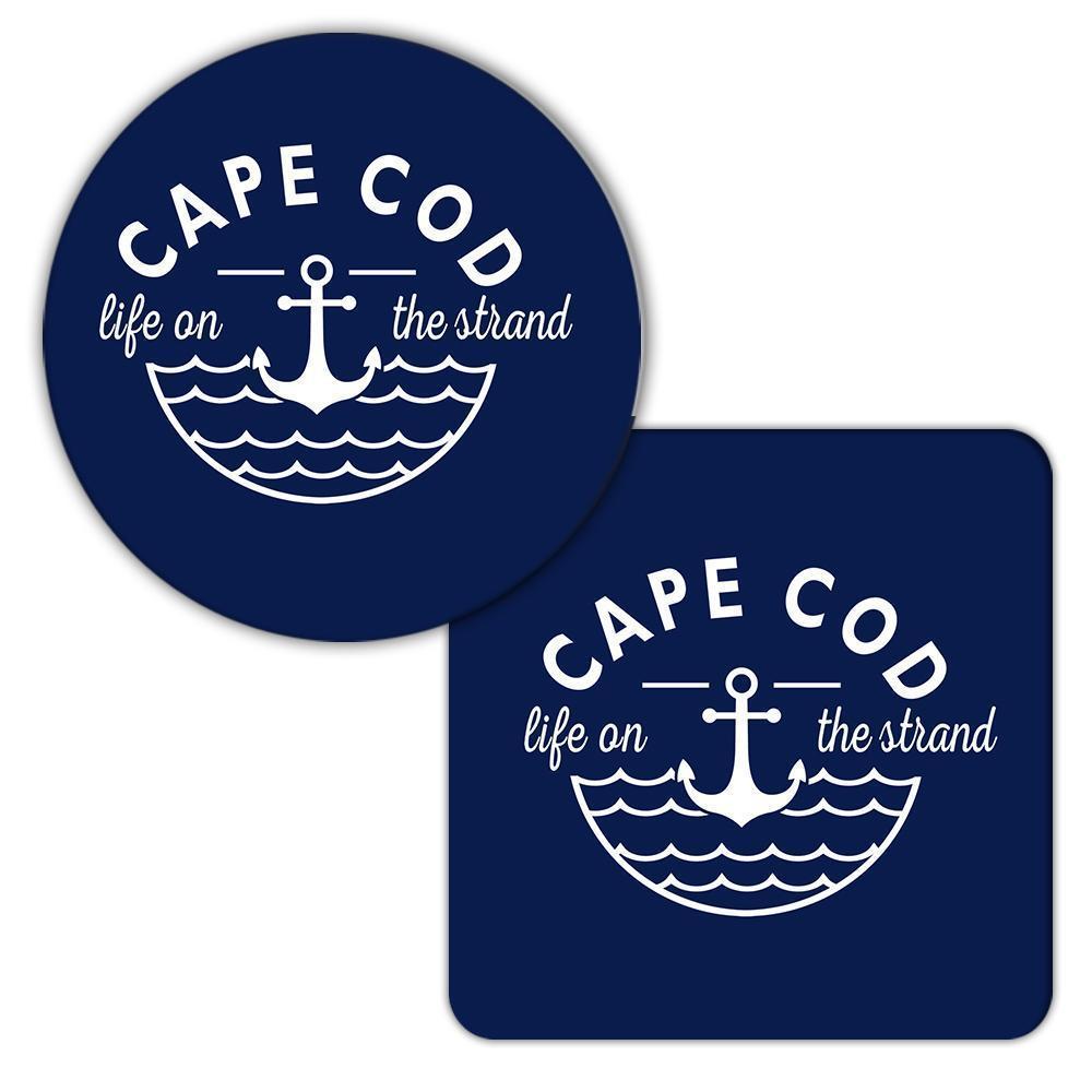 Cape Cod Life on the Strand : Gift Coaster Beach Travel Souvenir USA