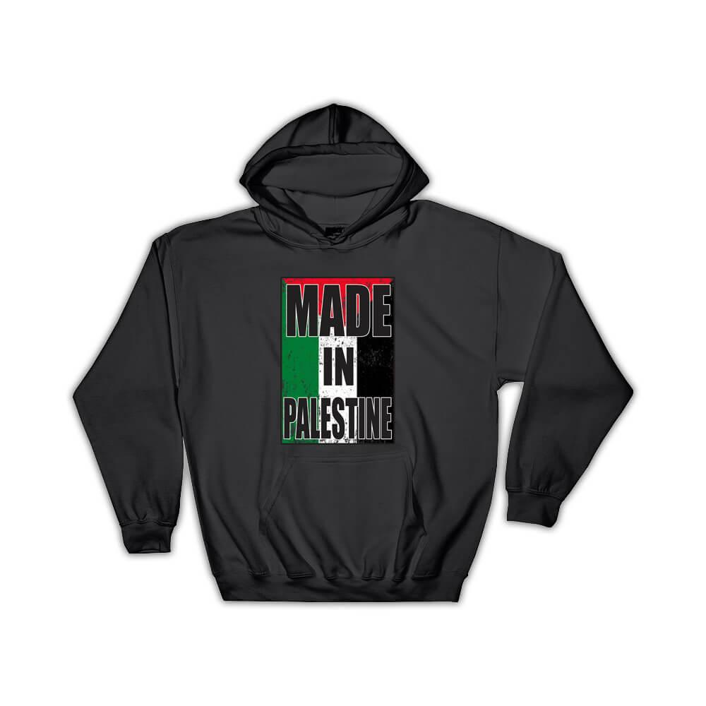 Made In Palestine : Gift Hoodie Flag Retro Artistic Palestinian Expat Country