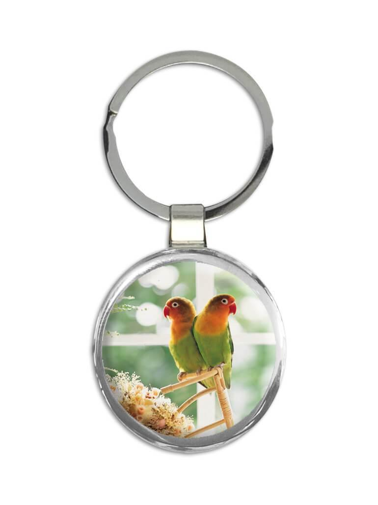 Agapornis : Gift Keychain Love Bird Nature Pet Romantic Valentines Ecology Animals