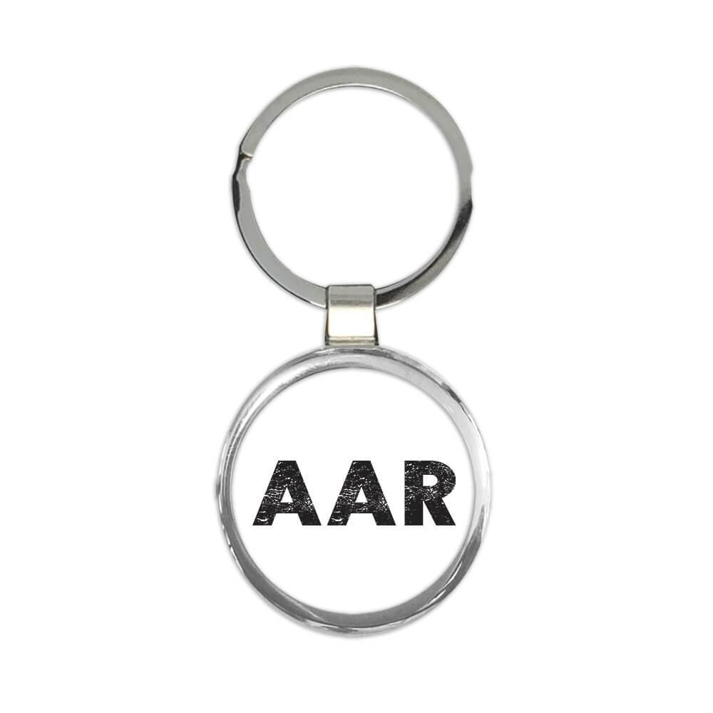 Denmark Aarhus Airport Tirstrup AAR : Gift Keychain Airline Travel Crew AIRPORT