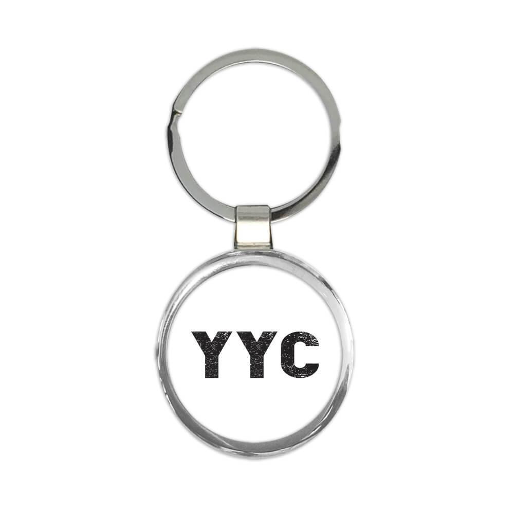 Canada Calgary Airport Calgary YYC : Gift Keychain Airline Travel Pilot AIRPORT
